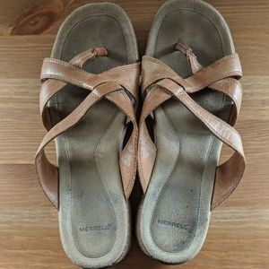Merrell leather wedge sandals